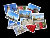 London vykort Arkivfoto