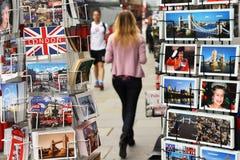 London vykortskärm Royaltyfri Foto