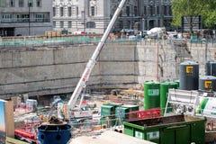 London Waterloo, Shell Center redevelopment construction. LONDON - MARCH 26, 2016: Shell Center Redevelopment Construction Site. Waterloo South Bank Stock Photos