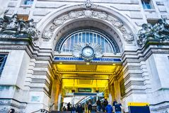 London Waterloo station entrance Royalty Free Stock Images