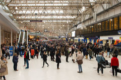London Waterloo train and underground station Stock Images