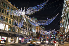 London-Weihnachtslichter Stockbild