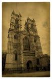 London. Weinlese-Westminster Abbey Lizenzfreies Stockfoto