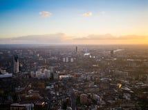 London-West End Sun-Satz Stockfotografie