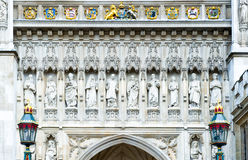 London. A west front's detail of Westminster abbey Royalty Free Stock Image