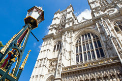 London. The west front towers of Westmister abbey Royalty Free Stock Photo