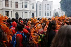 London Carnival Best Color Display 2018 royalty free stock photography