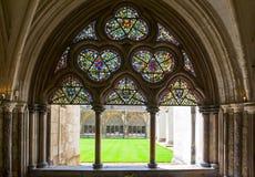 London. The Westminster abbey cloister Stock Photos