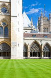 London. The Westminster abbey cloister Royalty Free Stock Photography