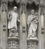 London - westminster abbey facade Stock Photos
