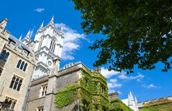 London. The Westminster abbey seen from the cloister Royalty Free Stock Photo