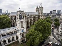 Free London Westminster Abbey Skyline Aerial 2 Stock Photos - 77802533