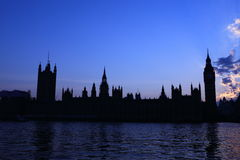 London Westminster with Big Ben Royalty Free Stock Photography