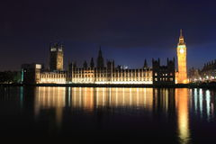 London Westminster with Big Ben Stock Images