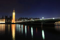 London Westminster with Big Ben Stock Image
