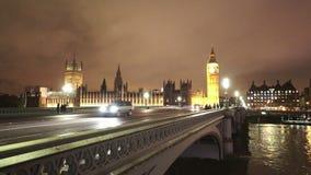 London Westminster Bridge and Big Ben. LONDON, ENGLAND stock video