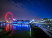 London. Westminster Bridge Thames River Capital of England  London Eye London Europe Royalty Free Stock Image