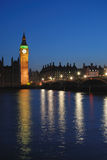 London Westminster at night Royalty Free Stock Images