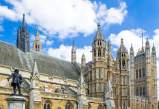 London. The Westminster palace seat of Parliament Stock Photos