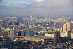 London Westminster panorama Fotografering för Bildbyråer