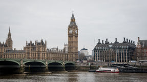 London Westminster and Thames river Royalty Free Stock Photography