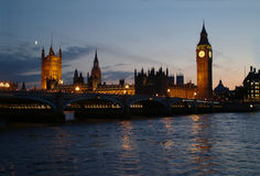 London - Westminster - Thames River. Westminster - view with Thames River -  London Royalty Free Stock Image
