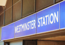 London Westminster underground station sign Royalty Free Stock Photography