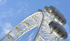 London wheel. A photo of the capsules from underneath the millennium wheel Stock Images