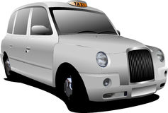 London white taxicab Royalty Free Stock Images