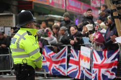 london wielkiej brytanii 9th Styczeń, 2018 Książe Harry i Meghan Markle wizyty Reprezent radio przy wystrzałem Brixton widzieć pr Obraz Stock