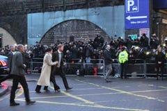 london wielkiej brytanii 9th Styczeń, 2018 Książe Harry i Meghan Markle wizyty Reprezent radio przy wystrzałem Brixton widzieć pr Fotografia Stock