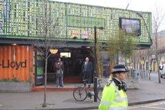 london wielkiej brytanii 9th Styczeń, 2018 Książe Harry i Meghan Markle wizyty Reprezent radio przy wystrzałem Brixton widzieć pr Fotografia Royalty Free