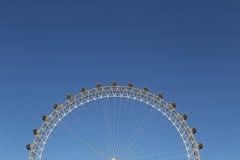 london wielkiej brytanii 04 20 2016 Widok Londyński oko z pokojem dla teksta jako tło Obraz Stock