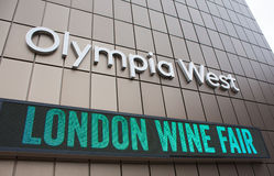 London wine fair's sign Stock Photography