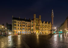 London. The Woodart  Schools The Sanctuary City of London capital of England Europe after the rain night sky Stock Photo