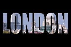 London word on black Royalty Free Stock Photo