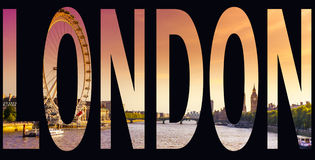 London word Stock Image
