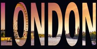 London-Wort Stockbild