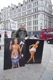 london zajmuje protestujących Zdjęcie Stock