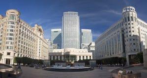 London, zitronengelber Kai Stockfotos