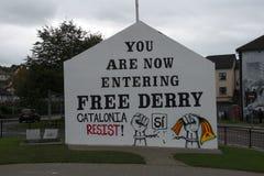 Londonderry, Βόρεια Ιρλανδία τον Οκτώβριο του 2017 στοκ εικόνα με δικαίωμα ελεύθερης χρήσης