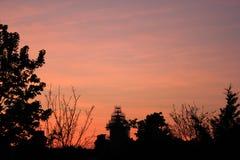Londonderry πορτοκαλιά σύννεφα ουρανού στοκ φωτογραφίες