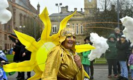 Londonderry /Derry city annual event parade to celebrate St Patrick's Day. Londonderry/Derry, Northern Ireland, UK. March 17, 2017. Derry city annual Stock Images