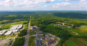 Londonderry town aerial view, New Hampshire, USA
