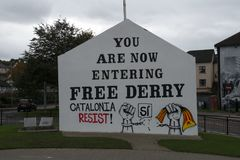 Londonderry, Irlande du Nord en octobre 2017 Image libre de droits