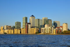 Londondocklands-Skyline Stockfoto