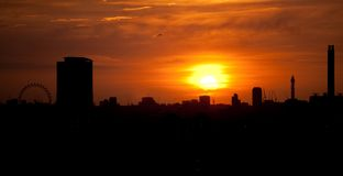 Londoner sunset Royalty Free Stock Photography