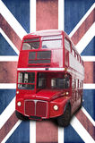 Londoner vintage red double decker bus Royalty Free Stock Image