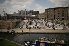 14/04/2018 Granary square London UK. royalty free stock photography