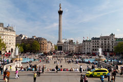 Londoners in Trafalgar Square Royalty Free Stock Images